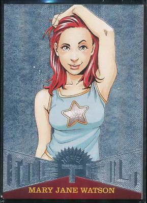 2017 Fleer Ultra Spider-Man Marvel Metal Trading Card #MM25 Mary Jane Watson