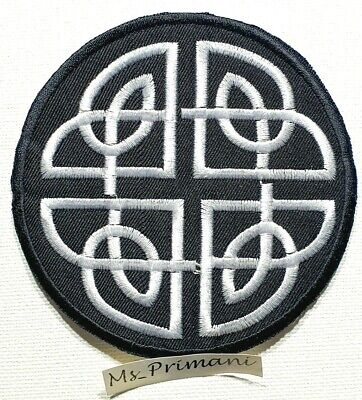 Celtic Knot Embroidered Patch iron On/sew Biker racing  Irish badge Applique