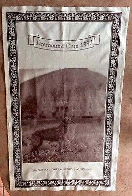 Scottish Deerhound Tapestry (unbleached Cotton) Miss Noble's / Club 1997