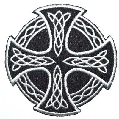 Celtic Knot Embroidered Patch iron On//sew Biker racing  Irish badge Applique