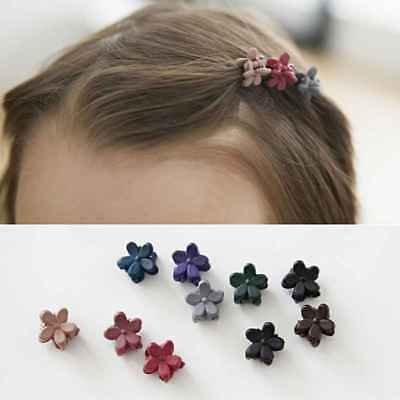 50Pcs Girls Kids Mini Rabbit Sweet Flower Hair Claws Clips Clamps Hairpin