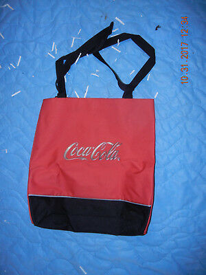 Coca Cola Large Fun Tote Bag with Grey and Black Accents Excellent Condition