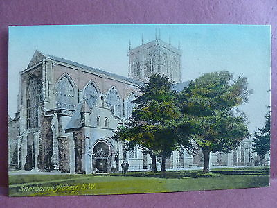 Old Postcard England UK Sherborne Abbey