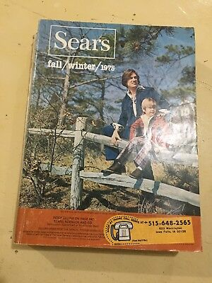 Vintage Fall And Winter Sears Catalog: 1975