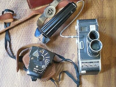 Paillard b8 Vintage Movie Camera with Leather Case & Accessories