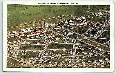 Postcard LA Shreveport Airview Barksdale Field  R23
