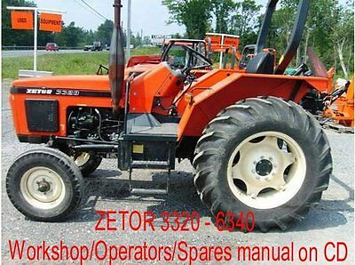 ZETOR WORKSHOP, OPERATORS & Spares Manual 5211, TO , 7745 on CD