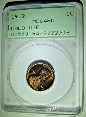 1972 Double Die Obverse Ddo  Lincoln Memorial Cent Pcgs Ms64 Rd Red ( Ogh )