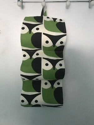 Orla Kiely OWL /OWLS Fabric Toilet Roll Holder Storage Organiser 3 Rolls  BNIW