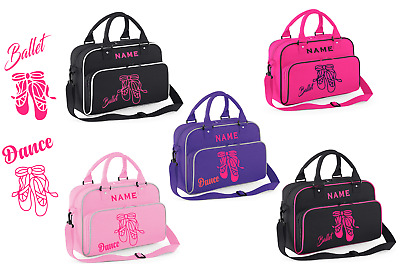 Personalised Ballet Bag with Glitter Print      Gymnastics, Dance & Gym Bags