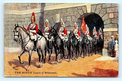 Postcard UK The King's Guard at Whitehall a/s CT Howard c1930s H21