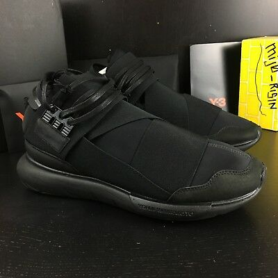 7e0b250bdf41f NEW ADIDAS Y-3 Qasa High Black Triple Black Size 8.5 -  1