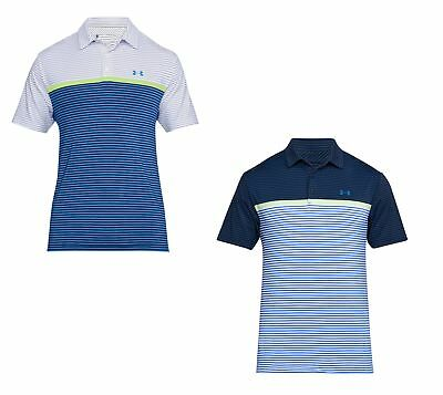 Under Armour UA Playoff Striped Polo Men Golf Shirt 2018-Multiple Sizes & Colors