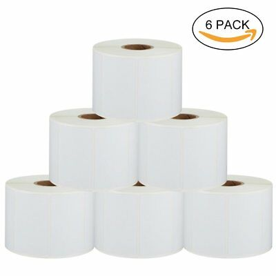 6 Roll 1.25x2.25 Label Direct Thermal Shipping Stickers Barcode UPC Zebra Eltron