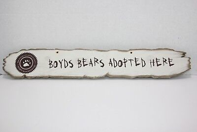 The Boyds Collection Wooden Sign - Boyds Bears Adopted Here