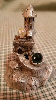 Vintage 1985 Gallo Pewter Castle with Crystal Signed tofano