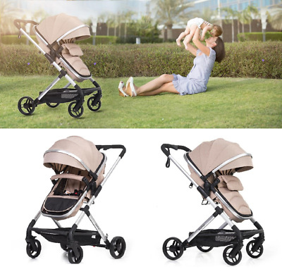 **Brand New Lightweight & Stylish 2 in 1 Baby Pram**   *3 Colours To Choose*