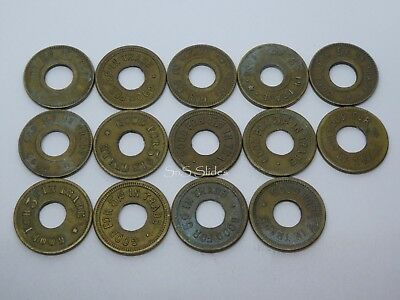 44 x Antique Canada Large Cent Coins & Brass Gaming Tokens (+ Calgary) 1859-1920