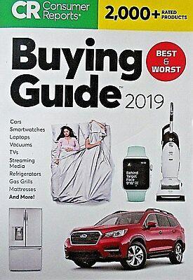 Consumer Reports BUYING GUIDE 2019 ~ Best & Worst of 2000+ Products Rated - NEW