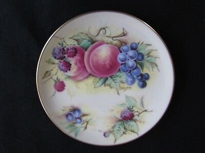 ORCHARD GLORY Crown Staffordshire Bone China Miniature Plate Butter Pat, England