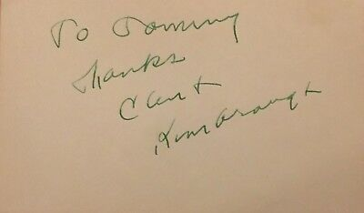 Vintage Clint Kimbrough Signed Index Card