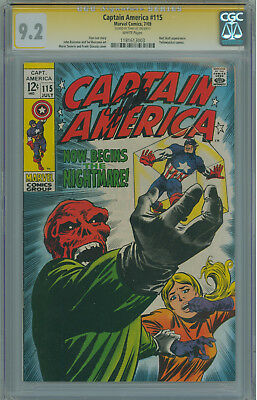 Captain America #115 CGC Signature Series 9.2 Stan lee Red Skull appearance SS