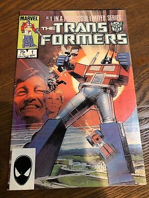 Transformers #1 1984 1St App Autobots Marvel Comics Vf