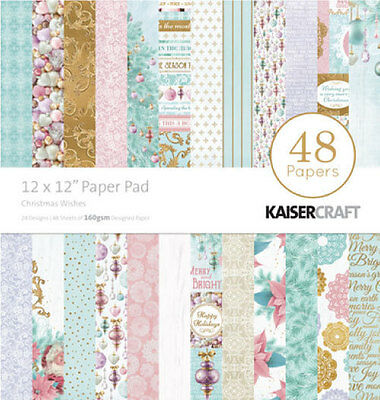 """KAISERCRAFT Scrapbooking Paper Pads - Christmas Wishes - PP229 - 12"""""""