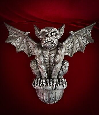 Gargoyle Wall Statue Medieval Gothic Home Decor Guardian Mount Large 20