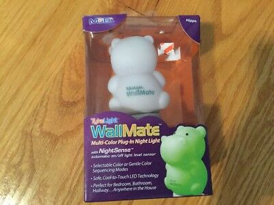 MOBI WallMate Color-Changing LED Plug-in Night Light, Hippo