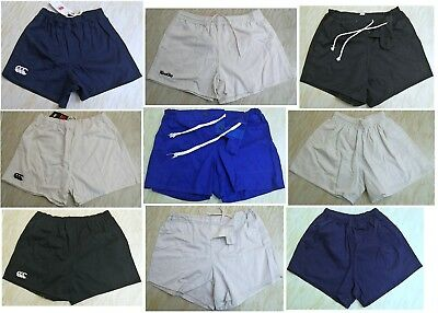 Cotton Drill Rugby Shorts, Adult & Junior, Various Brands, Colour & Sizes