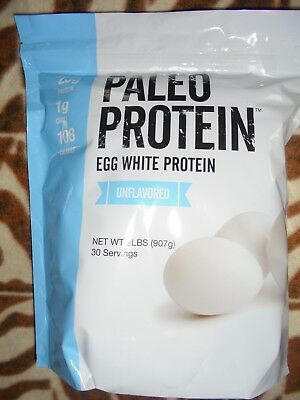 PALEO PROTEIN Egg White Protein Unflavored 2 lbs Powder exp 8/6/20