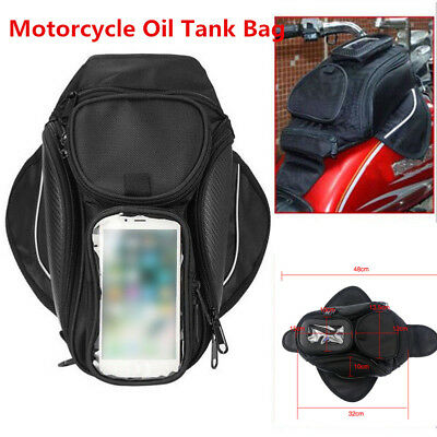 Magnetic Motorcycle Motorbike Oil Fuel Tank Bag Waterproof 4-Pocket Saddlebag
