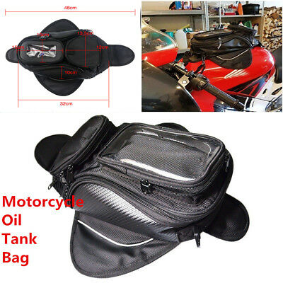 Universal Magnetic Magnet Motorcycle Bike Oil Fuel Tank Phone Saddle Pouch Bag