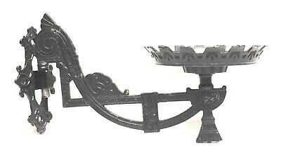 Antique Cast Iron Victorian / Eastlake Swing Airm Plant / Lamp Holder