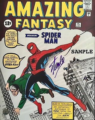 Marvel Characters Stan Lee 8x10 Photo Reprint Autographed RP #3