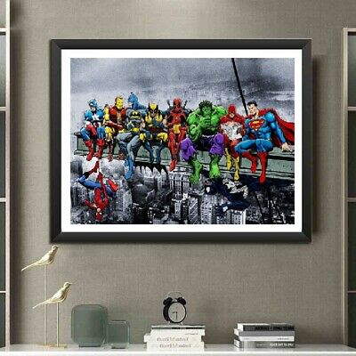 AU Cartoon Super Hero Full Drill 5D Diamond Painting Embroidery Cross Stitch FT