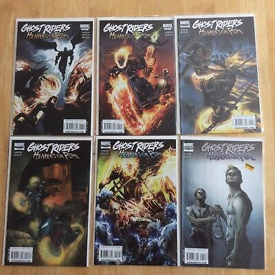 Ghost Riders Heavens on Fire #1 Variant, #2-6 (2009 Full Series!) NM High Grade!