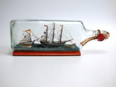 Folk Art Ship in a Bottle Whaling Confrontation - Pegoud v. Greenpeace
