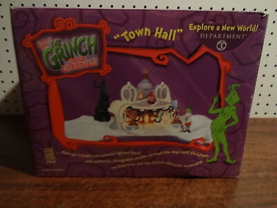 Dept 56 Whoville The  Grinch Who Stole Christmas Town Hall 59034 With Box
