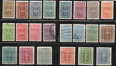 1920s Austria  Definitive stamps  Lot of 22