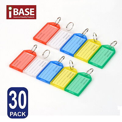 30x Key Rings Indicate Luggage Tag ID Label Travel Suitcase Identity Name Card