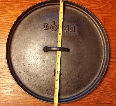 Vintage Old LODGE South Pittsburg, Tennessee Cast Iron Camp-Dutch Oven Lid #14