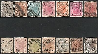 Austria  Lot of 14 early stamps