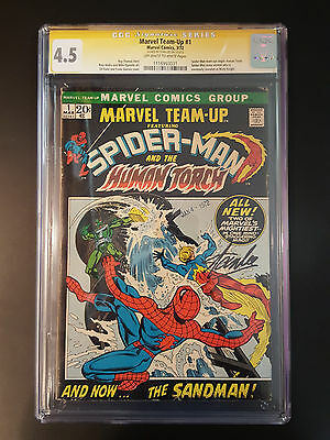 Marvel Team-Up # 1 Cgc 4.5 Ss S.lee Ow-W Spider-Man & Human Torch