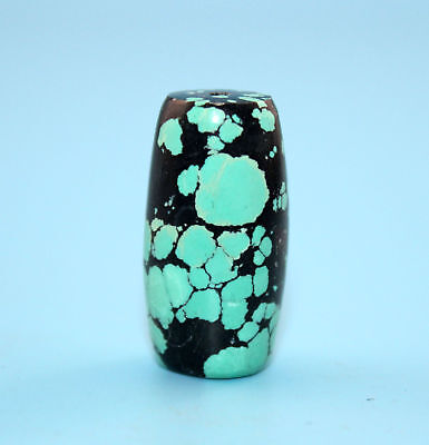 30*15 mm Antique Undressed dzi turquoise old Bead from Tibet **Free shipping**