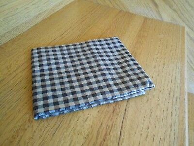 "Longaberger Khaki Check 14"" Fabric Square blk tan new in bg *shipping included!*"