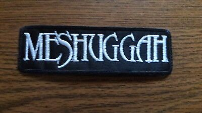 Meshuggah,sew On White Embroidered Patch