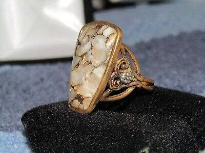 .925 sterling silver ring with large stone very nice piece.