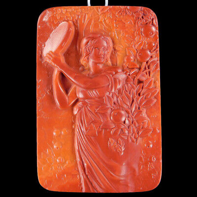 Carved Goddess Muse Bead C EE516002